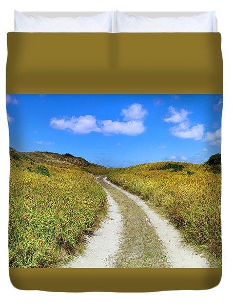 Beach Road Duvet Cover by Sean Davey