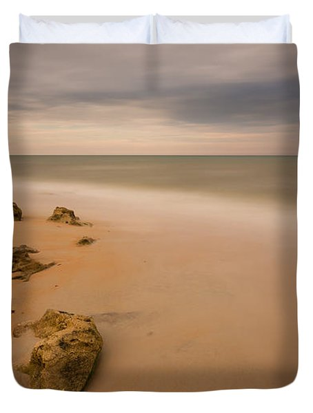 Beach Rocks Duvet Cover