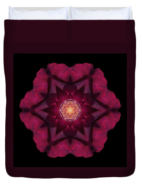 Beach Rose I Flower Mandala Duvet Cover