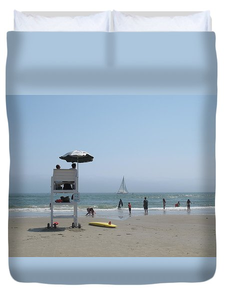 Beach Scene Duvet Cover