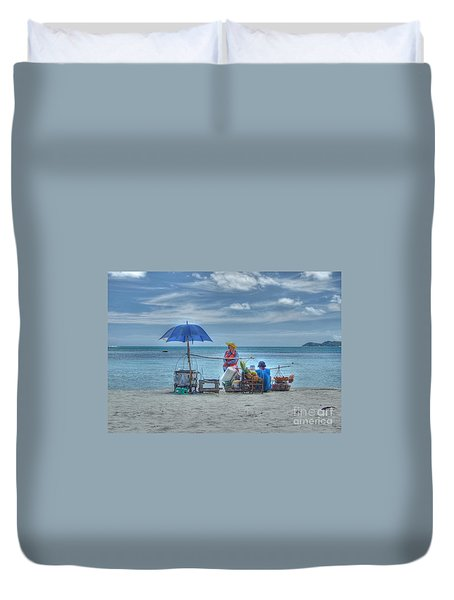 Beach Sellers Duvet Cover by Michelle Meenawong