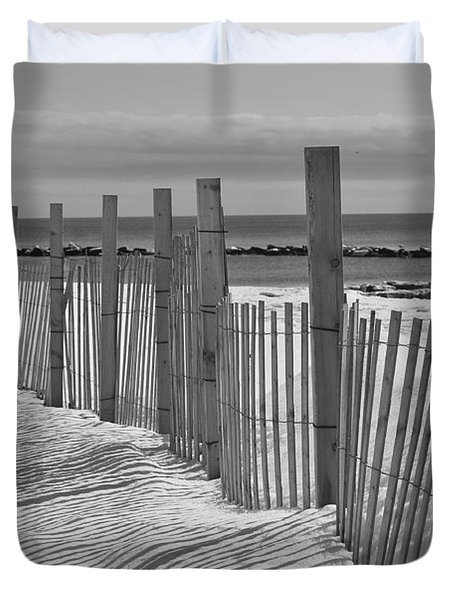Beach Snow  Duvet Cover by Catherine Reusch  Daley