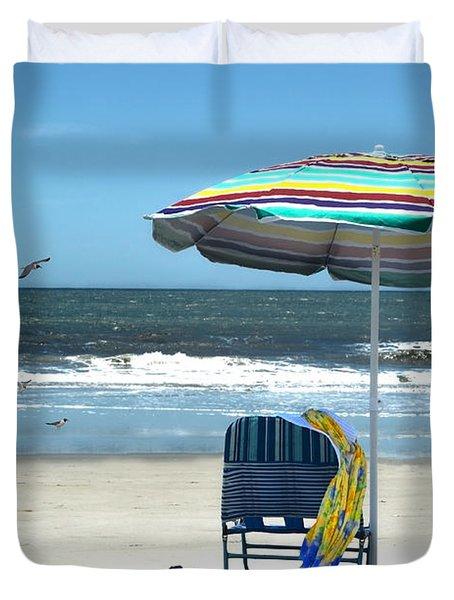 Beach Solitude Duvet Cover by Sandi OReilly