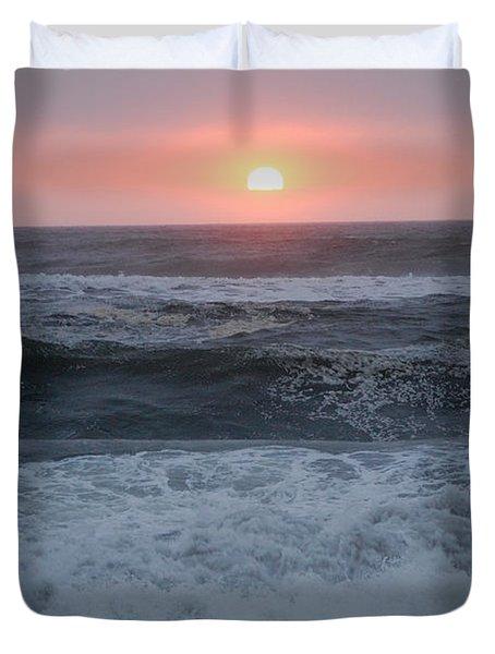 Beach Sunset Duvet Cover by Holly Blunkall