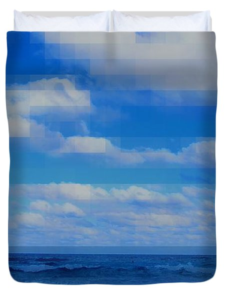 Beach Through Artificial Eyes Duvet Cover