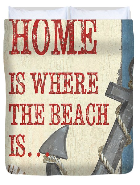 Beach Time 2 Duvet Cover by Debbie DeWitt