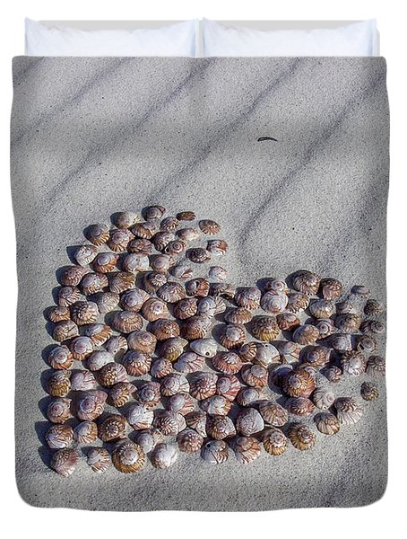 Beach Treasure Duvet Cover by Jola Martysz