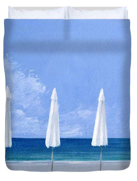 Beach Umbrellas Duvet Cover