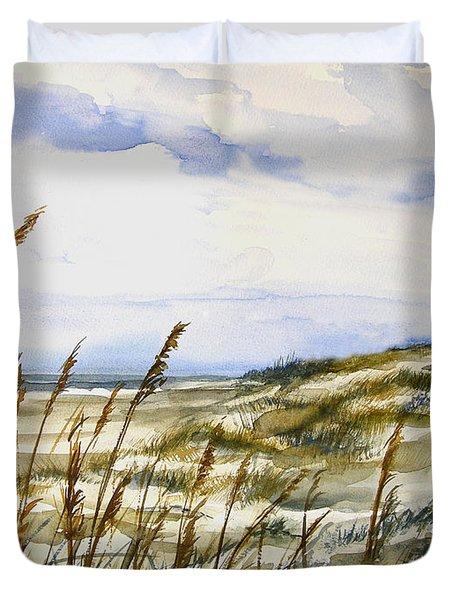 Beach Watercolor 3-19-12 Julianne Felton Duvet Cover