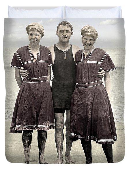 Beach Wear Fashion 1910 Duvet Cover