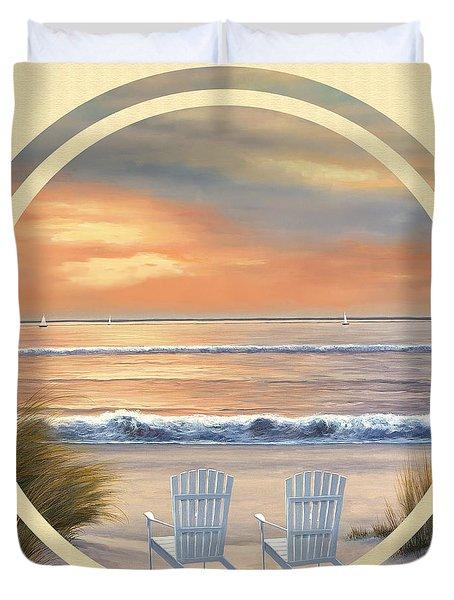 Beach World Duvet Cover by Diane Romanello