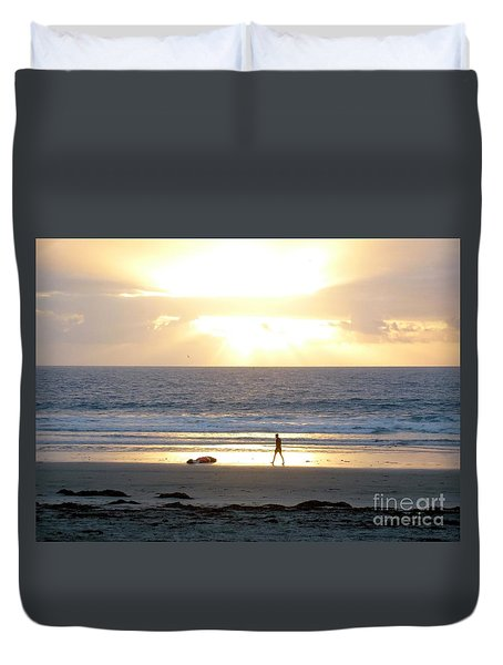 Beachcomber Encounter Duvet Cover by Barbie Corbett-Newmin