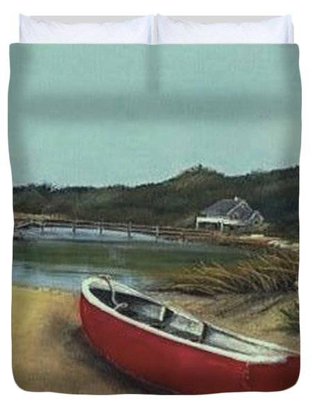 Beached Boat Duvet Cover