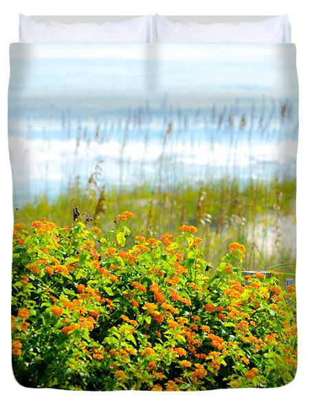 Beachy Butterflies  Duvet Cover