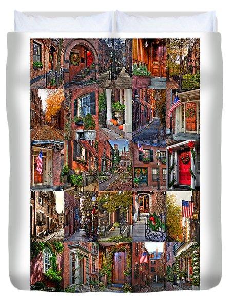 Beacon Hill - Poster Duvet Cover by Joann Vitali