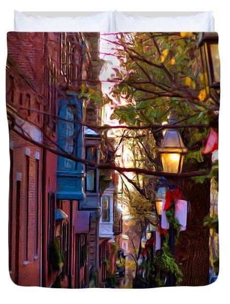 Beacon Hill Streets Duvet Cover by Joann Vitali