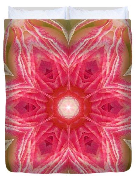 Beacon Of Light Rose Mandala Duvet Cover