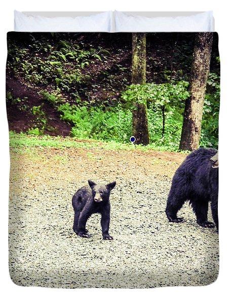 Bear Family Affair Duvet Cover