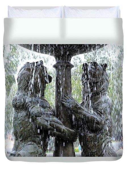 Bear Fountain Duvet Cover