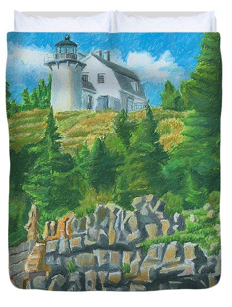 Bear Island Lighthouse Duvet Cover
