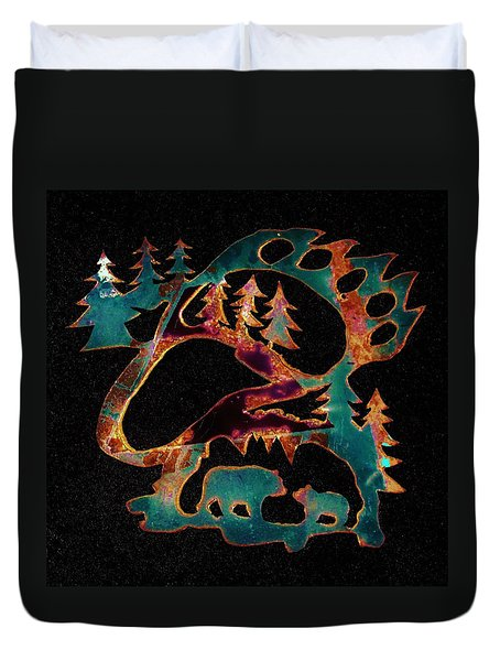 Blue Bears 2  Duvet Cover