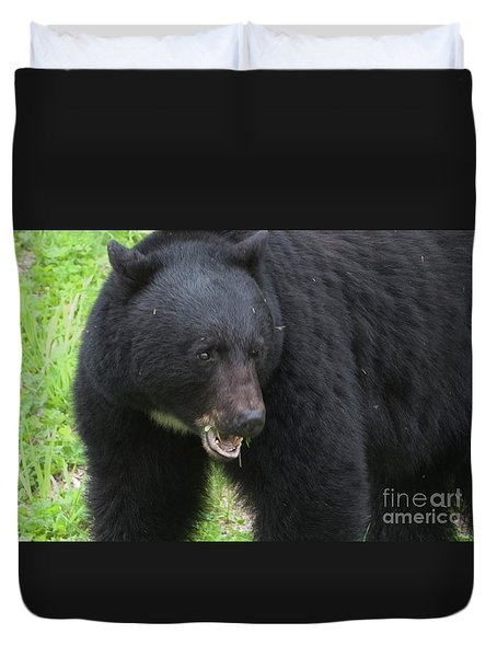 Duvet Cover featuring the photograph Bear by Rod Wiens