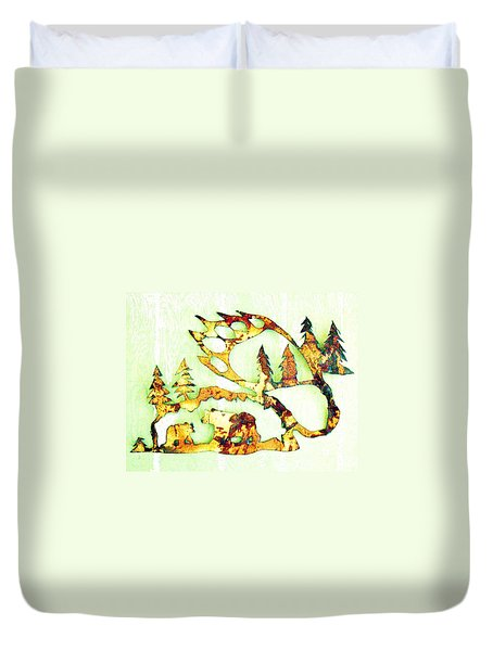 Bear Track 8 Duvet Cover by Larry Campbell