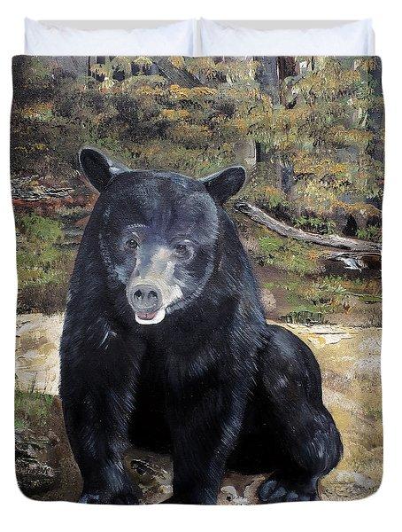 Bear - Wildlife Art - Ursus Americanus Duvet Cover
