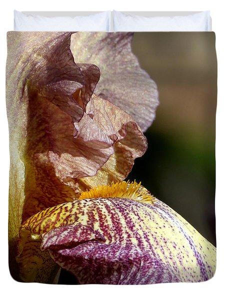 Bearded Iris #1 Duvet Cover