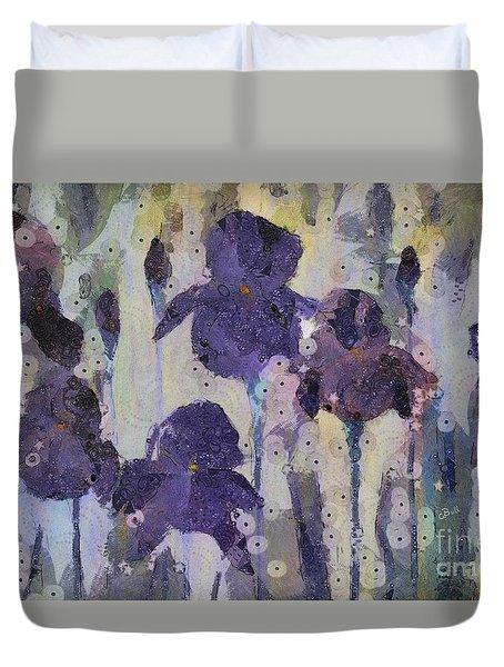 Bearded Irises Duvet Cover