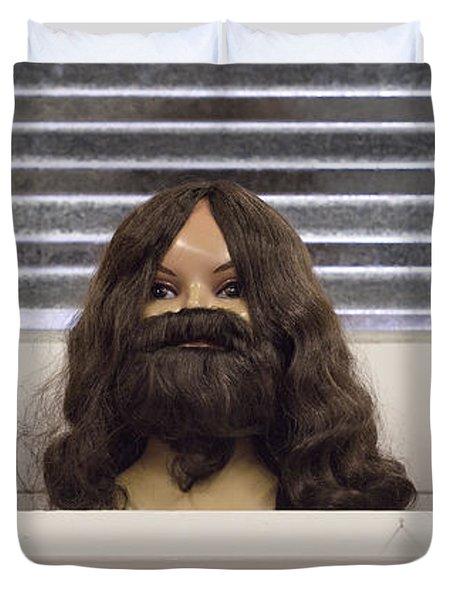 Bearded Lady Duvet Cover