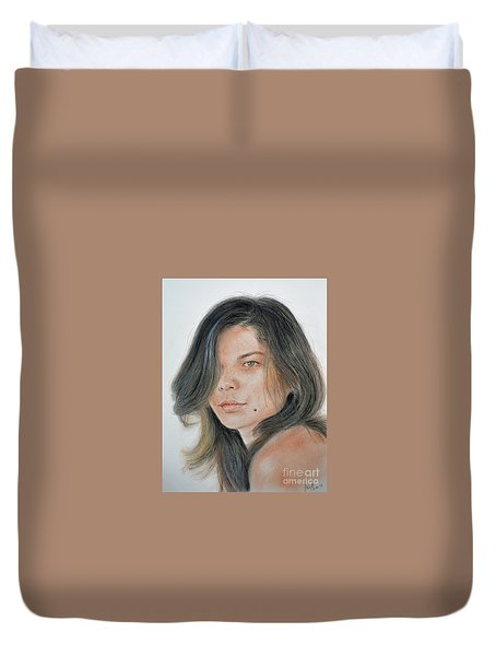 Beautiful And Sexy Actress Jeananne Goossen IIi  Duvet Cover by Jim Fitzpatrick
