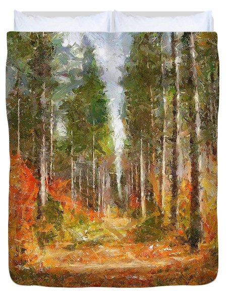 Beautiful Autumn Duvet Cover by Dragica  Micki Fortuna