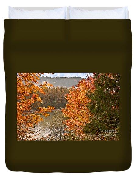 Beautiful Autumn Gold Art Prints Duvet Cover by Valerie Garner