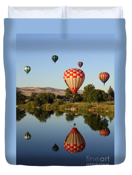 Beautiful Balloon Day Duvet Cover by Carol Groenen