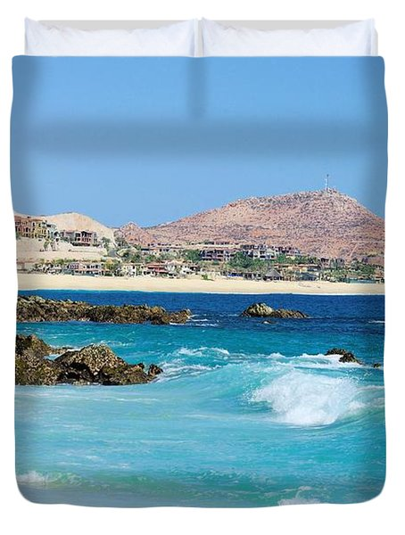 Beautiful Beach On The Sea Of Cortez Duvet Cover by John  Greaves