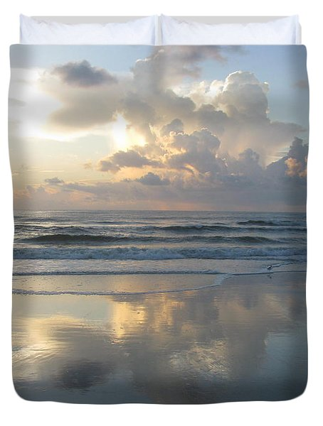 Beautiful Beach Sunrise Duvet Cover by Ellen Meakin