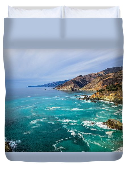 Beautiful Big Sur With Bixby Bridge Duvet Cover