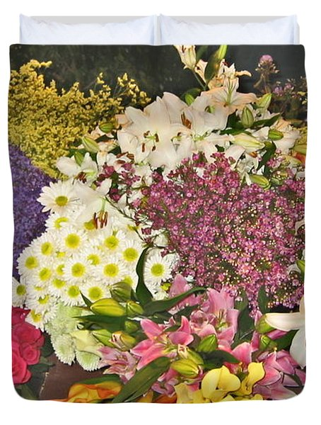 Duvet Cover featuring the photograph Beautiful Blooms by Judith Morris