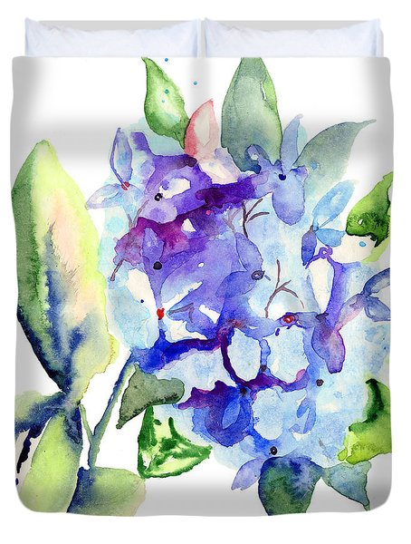 Beautiful Blue Flowers Duvet Cover