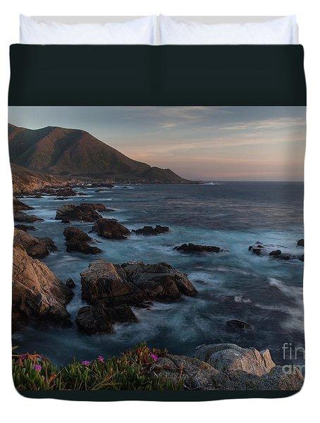 Beautiful California Coast In Spring Duvet Cover