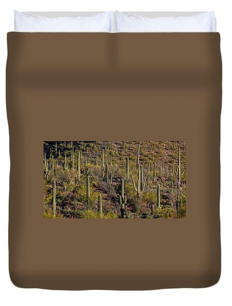 Duvet Cover featuring the photograph Beautiful Desert Morning by Elaine Malott