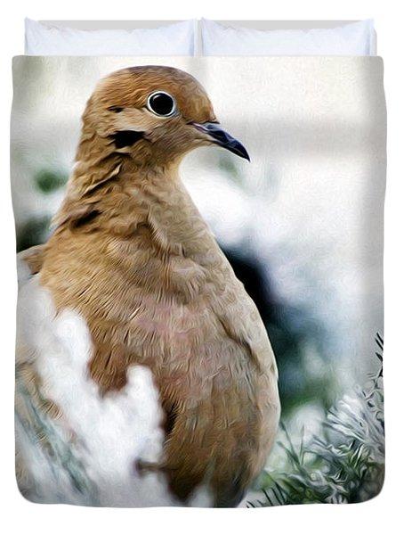 Beautiful Dove Duvet Cover