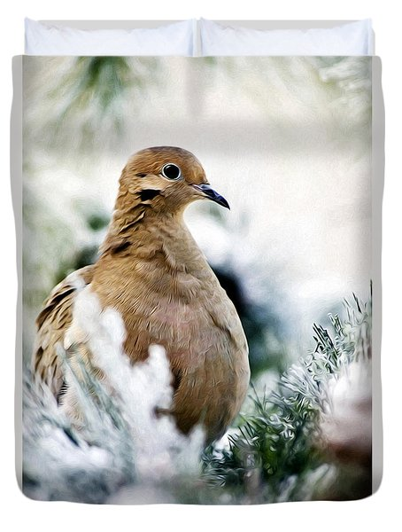 Beautiful Dove Duvet Cover