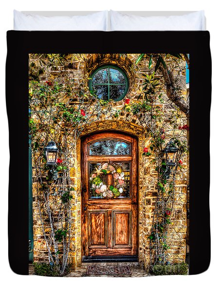 Beautiful Entry Duvet Cover by Jim Carrell