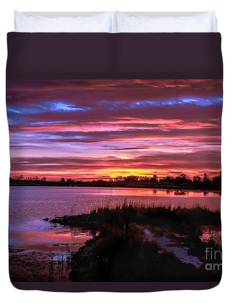 Beautiful Evening Duvet Cover by Robert Bales