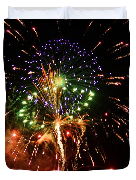 Beautiful Fireworks Works Duvet Cover