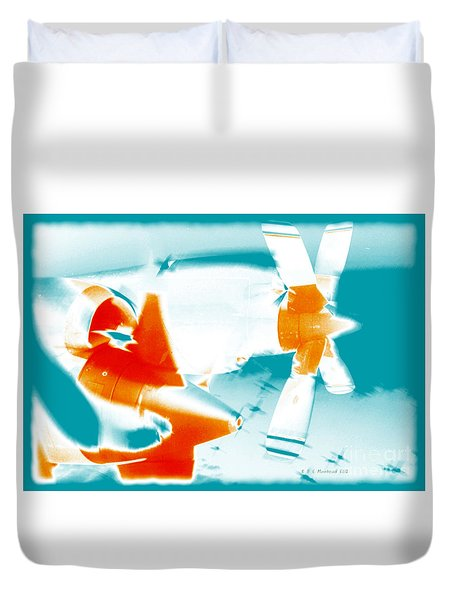 Duvet Cover featuring the photograph Fixed Wing Aircraft Pop Art Poster by R Muirhead Art