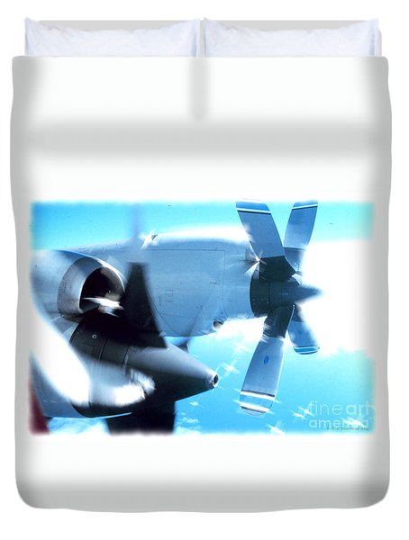 Duvet Cover featuring the photograph Beautiful Fixed Wing Aircraft by R Muirhead Art