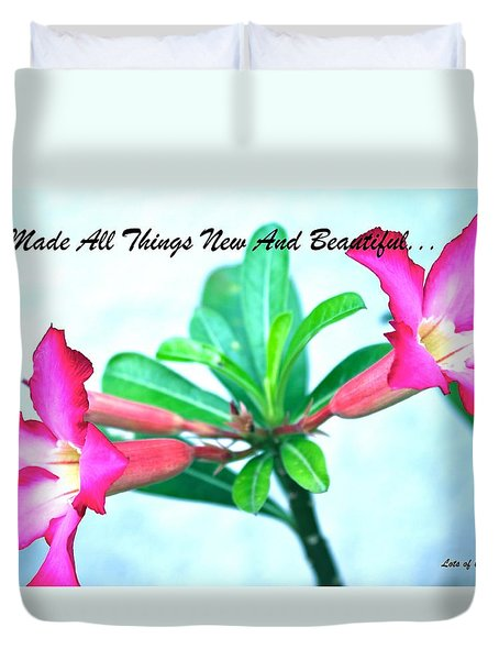Duvet Cover featuring the photograph Beautiful Flower by Lorna Maza